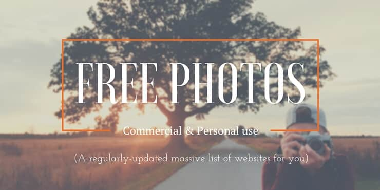 List of websites with free photos for commercial and personal use