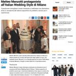 Matteo Manzotti protagonista all'Italian Wedding Style di Milano Giornale di Treviglio