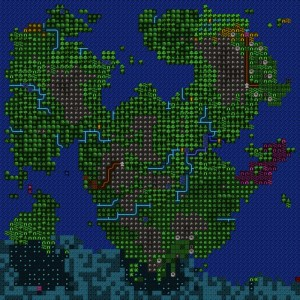 Dwarf Fortress World Map