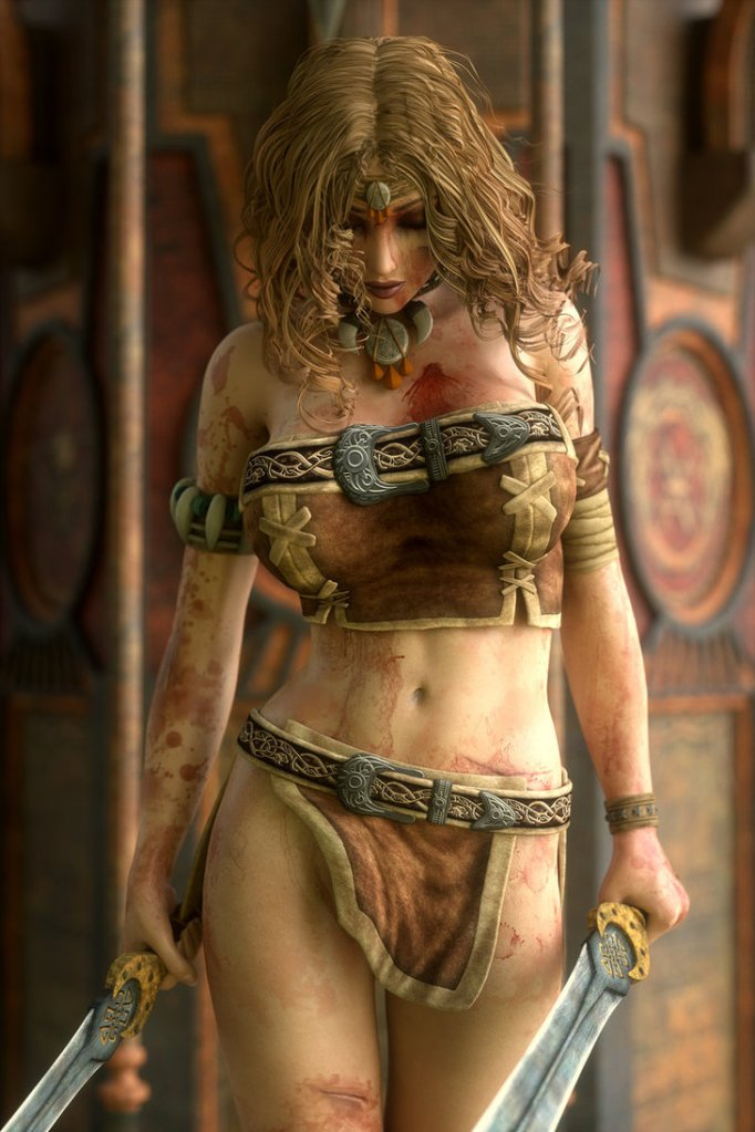 sword and sorcery woman fighter