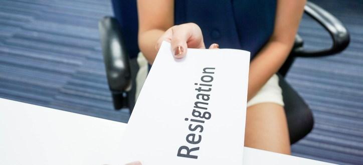 resigning