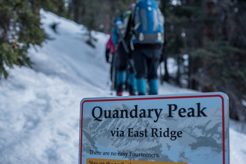 The Hike up Quandary Begins