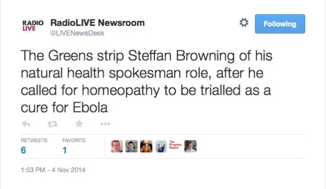 RadioLIVE_Newsroom_on_Twitter___The_Greens_strip_Steffan_Browning_of_his_natural_health_spokesman_role__after_he_called_for_homeopathy_to_be_trialled_as_a_cure_for_Ebola_