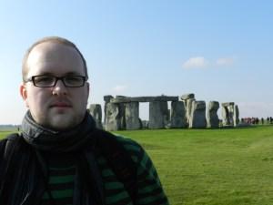 Matt Borgard in front of the Stonehenge