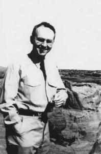 Alexander H. Leighton in Poston, AZ during World War II.