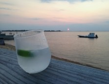 Sunset gin and tonic
