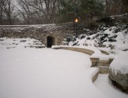 The stone bridge at the Grotto