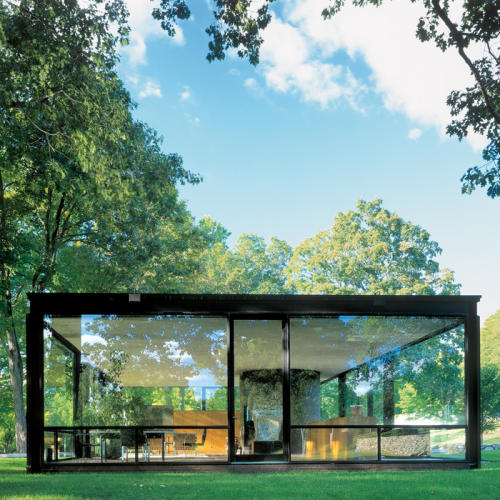 glass house de philip johnson la entrada al mundo de la arquitectura. Black Bedroom Furniture Sets. Home Design Ideas
