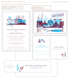 Proof copy of the invitations
