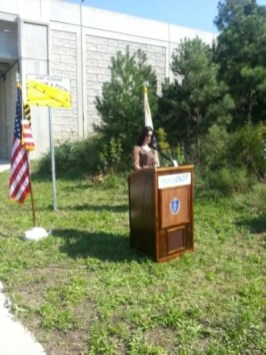 Melissa Pucino Speaking on sign dedication