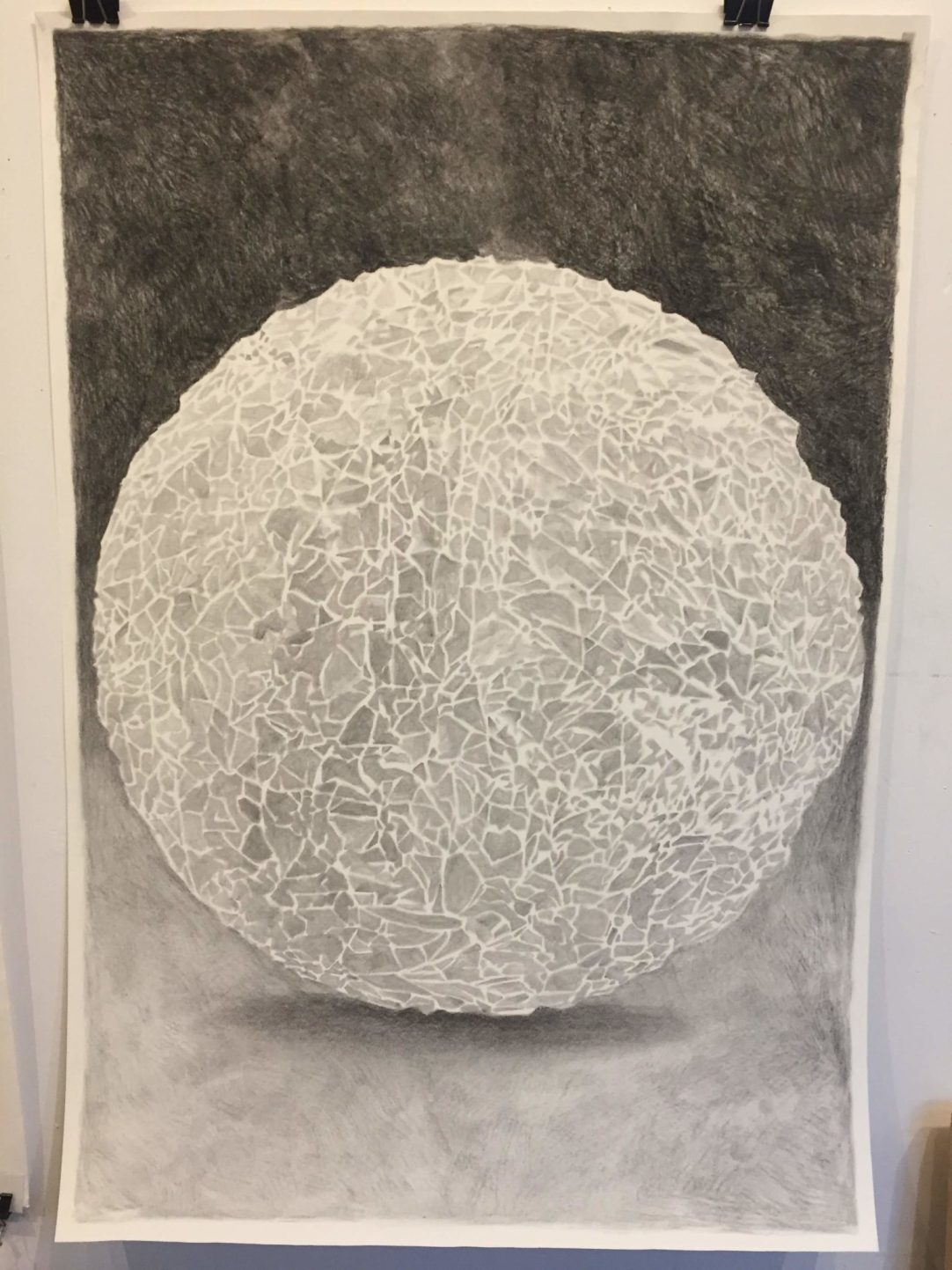 drawing graphite crumpled paper art by Matthew Whitney
