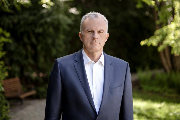 Christof Mascher at Allianz headquarter in Munich