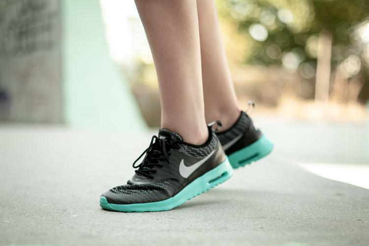Clos-Up of Sara's Nike sneakers