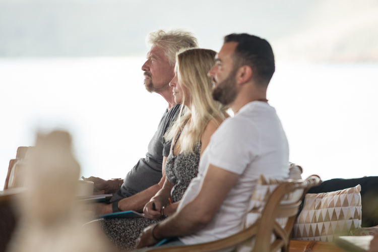 Sir Richard Branson and guests attending Ultramarine