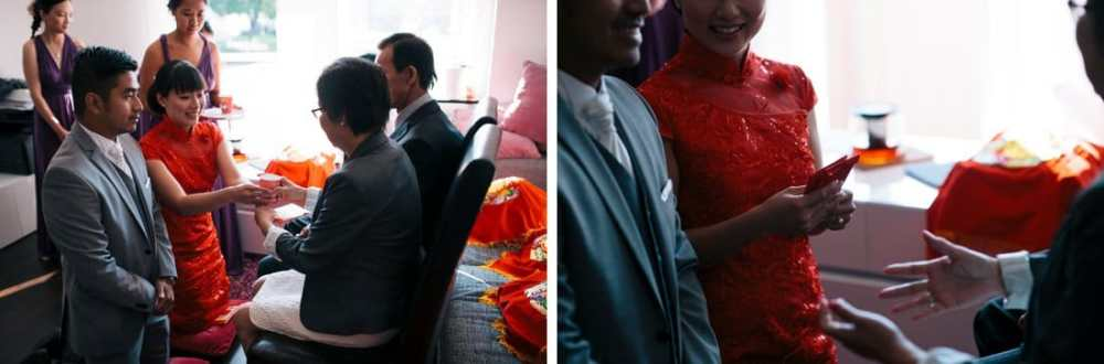 kinesiskt bröllop, teceremoni