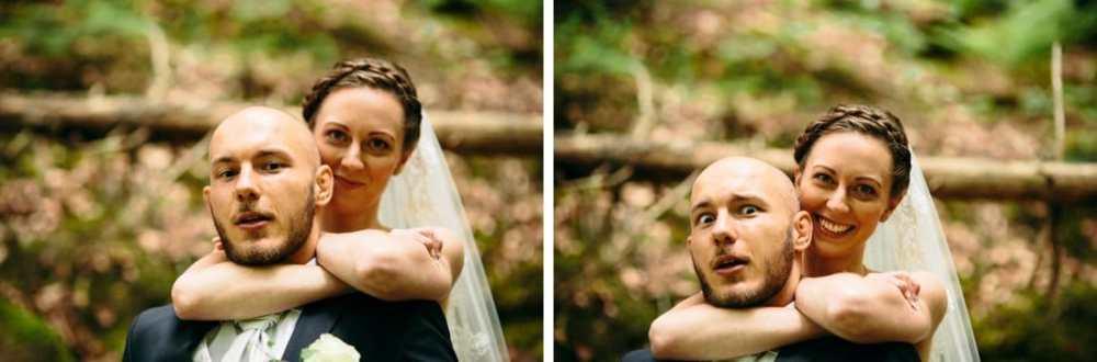 annorlunda bröllopsfoto