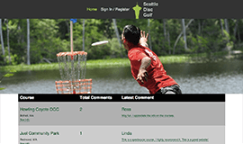 Seattle Disc Golf - Desktop Home Page