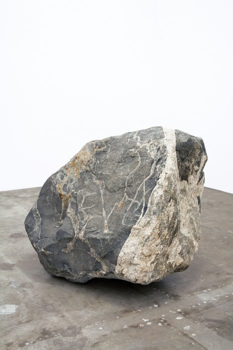 4 EVA, 2006 Granite with epoxy inlay 48 x 48 x 60 inches