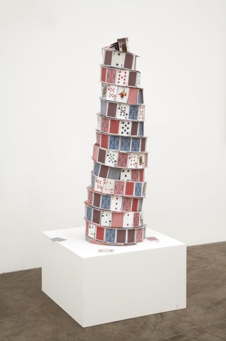 Tower of Babel, 2007 Stainless steel and paper 48 x 15 x 15 inches