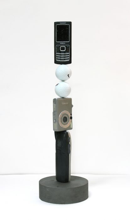 Obsolete Column, 2010 Cast bronze with acrylic and oil paint 18 x 6 x 6 inches
