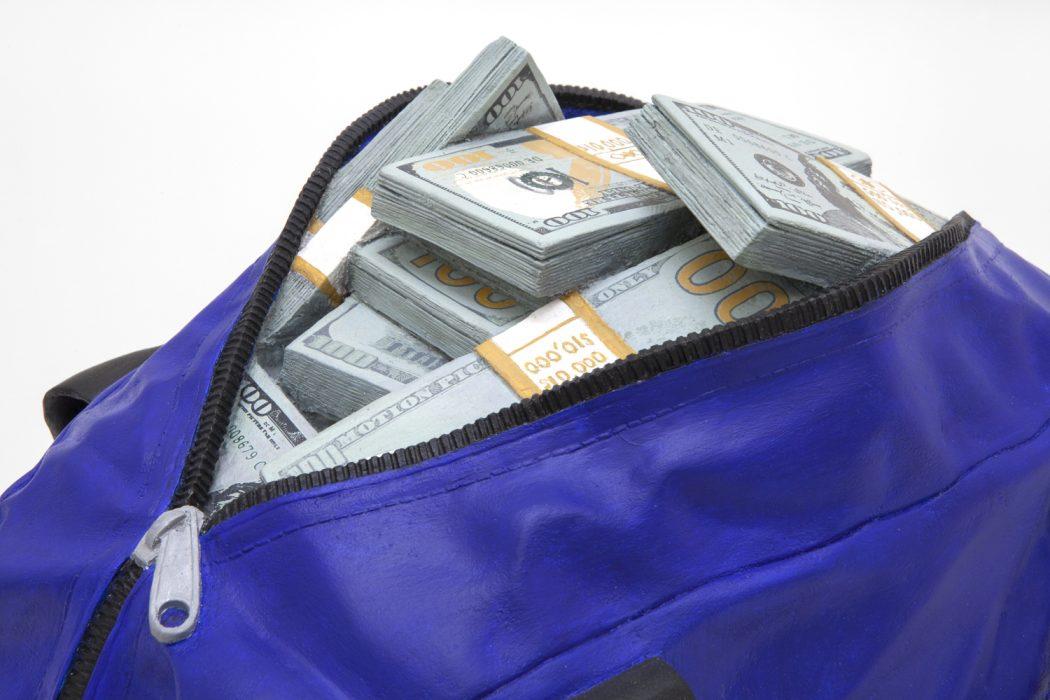 Movie Money 2 (1.25 Million Dollars in a Gym Bag), 2017 Detail