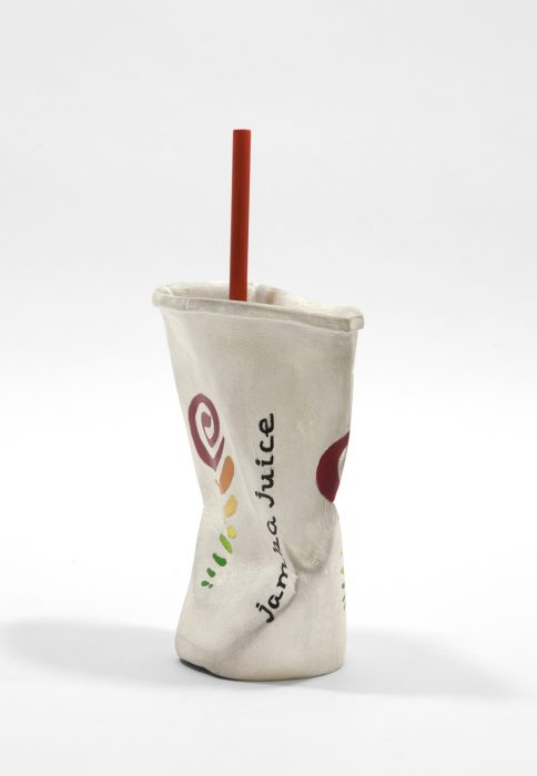 Jamba Juice Cup #1, 2017 Carved wood with paint 9.5 x 6 x 3 inches