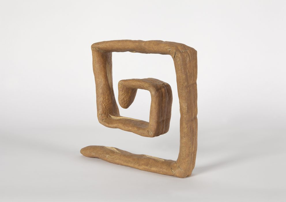 Greek Key, 2018 Carved wood with paint 16 x 18.5 x 4 inches
