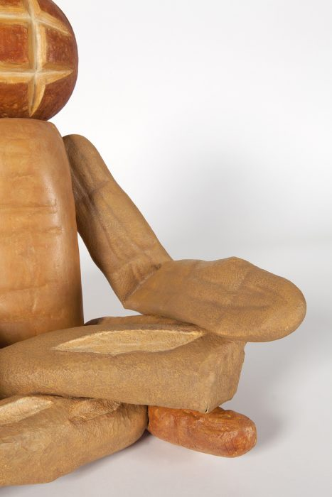 Bread Figure (Sitting Cross-Legged), 2018 Detail