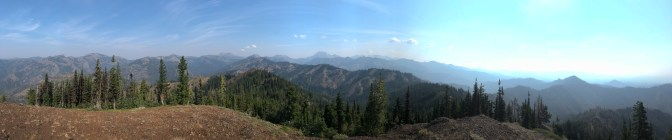 Pano from the summit of Malcolm.