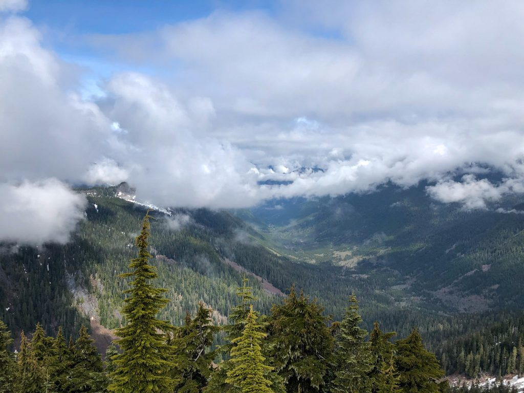 View of the Pratt river drainage from the summit of Pratt Mountain