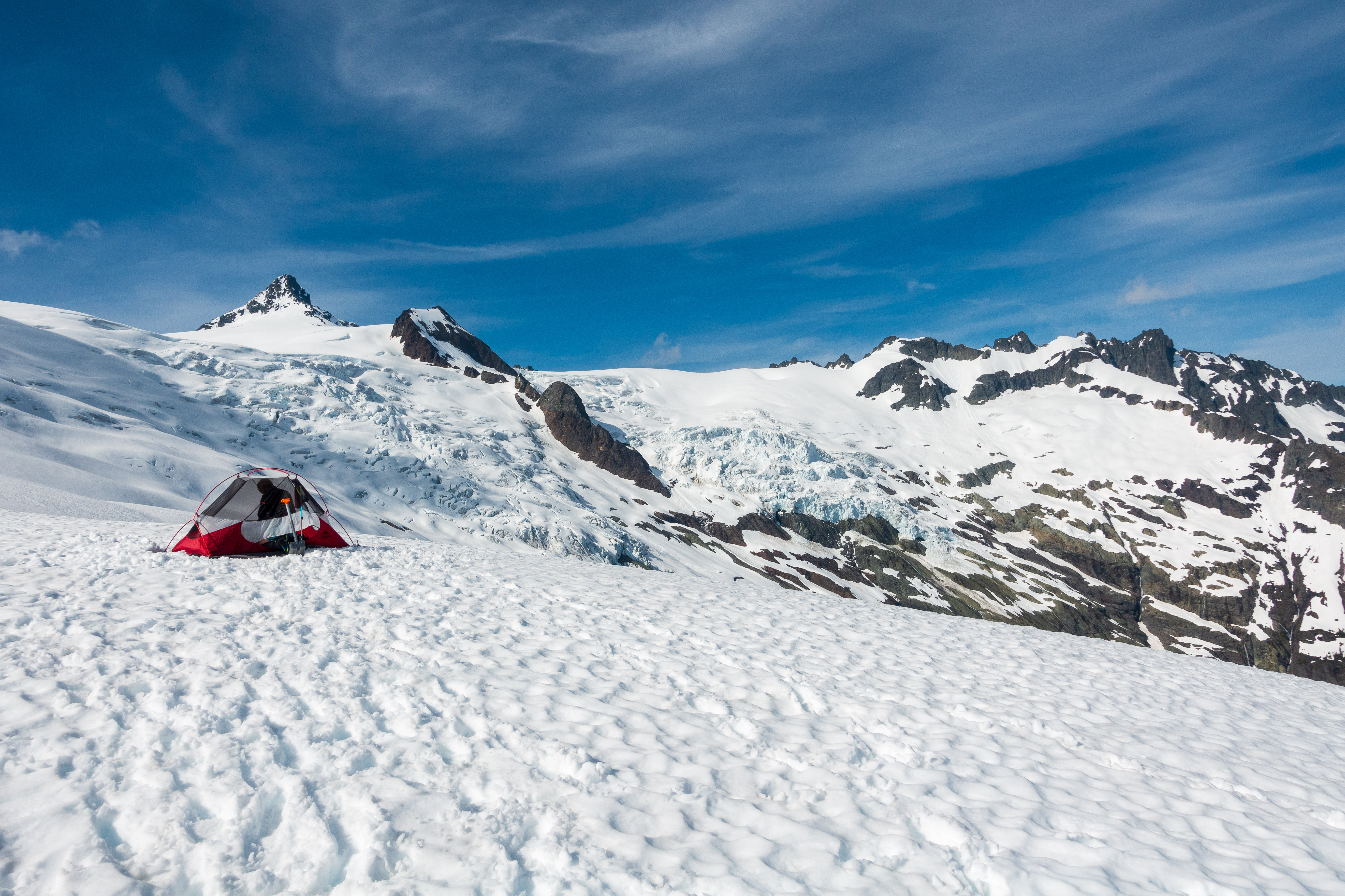 Our camp location. Views of the sulphide glacier.