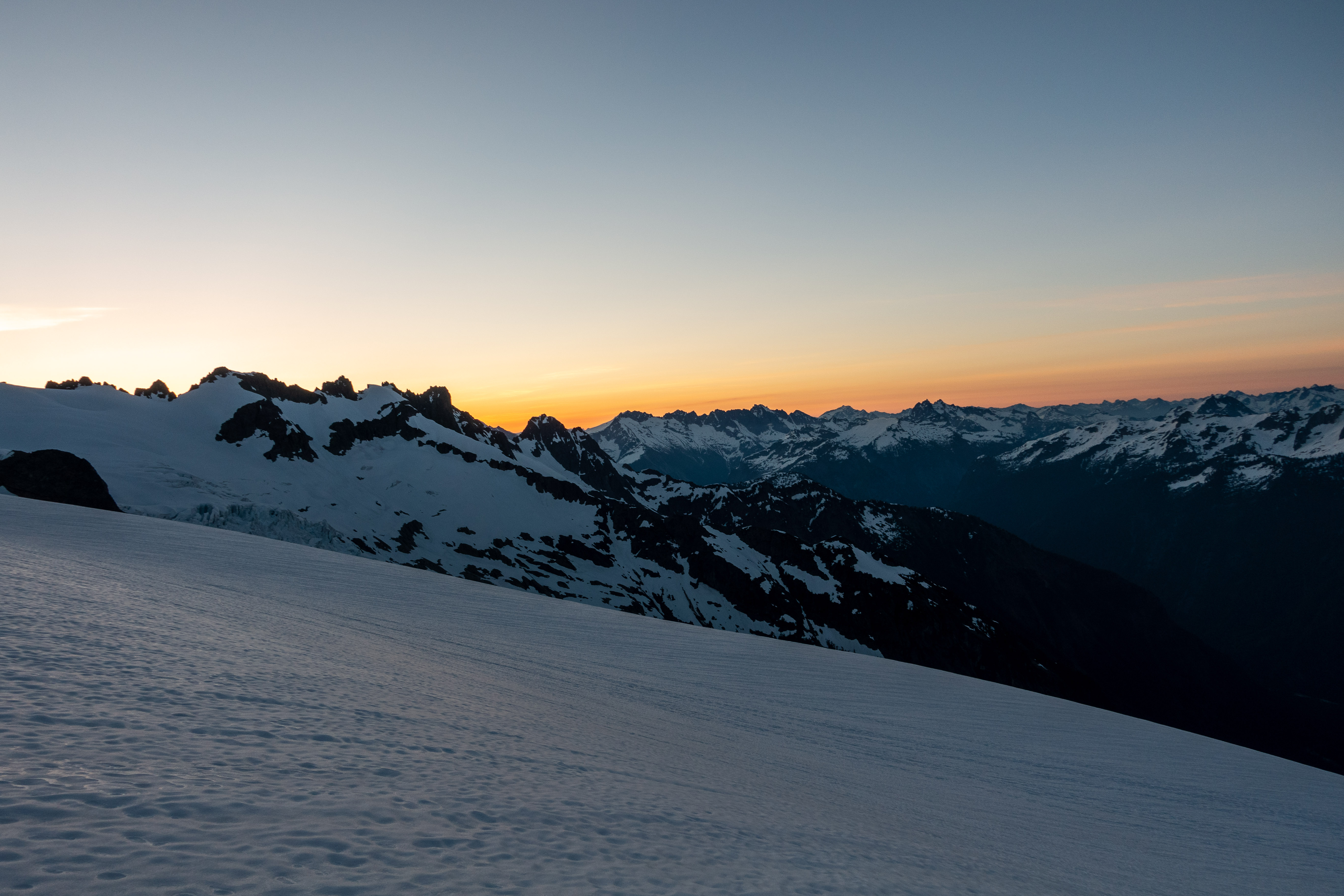 Sunrise in the alpine.