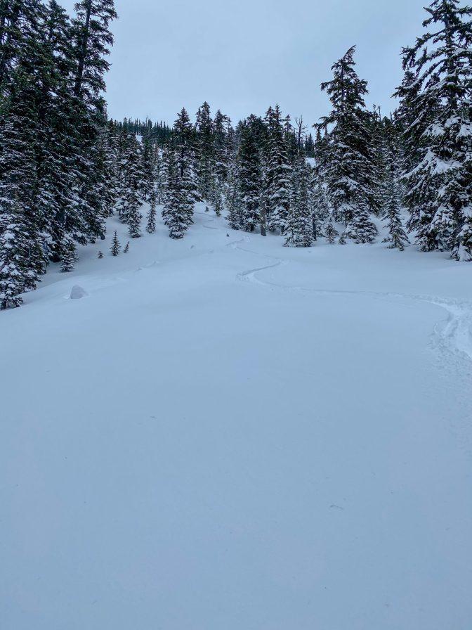 Incredible smooth snow to ski on