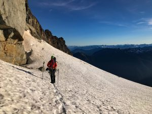 On the traverse of the glacier. pc: Mary S