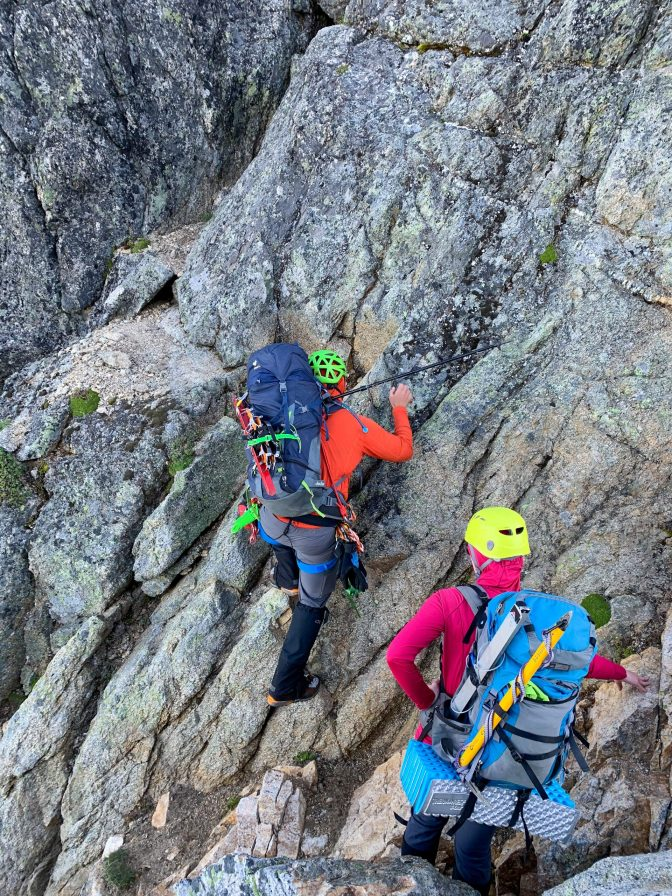Scrambling on the route. pc: Melissa L