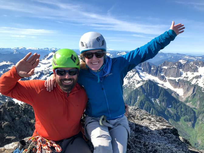 Melissa and I on the summit. pc: Mary S