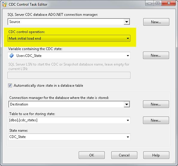 CDC Control Task Editor