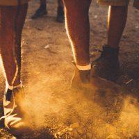 dust on feet