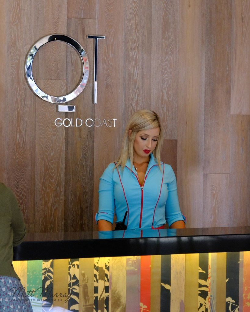 Cool and quirky staff uniforms at QT Gold Coast, Surfers Paradise