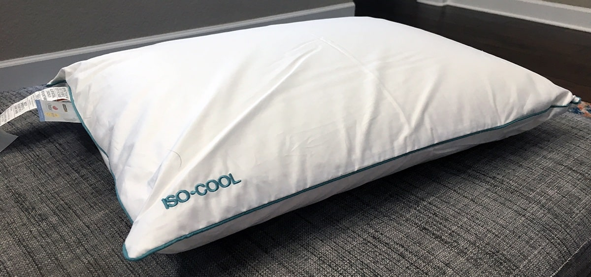 iso cool traditional shaped foam pillow