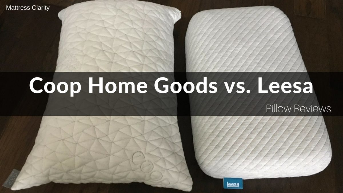 pillow reviews coop home goods vs