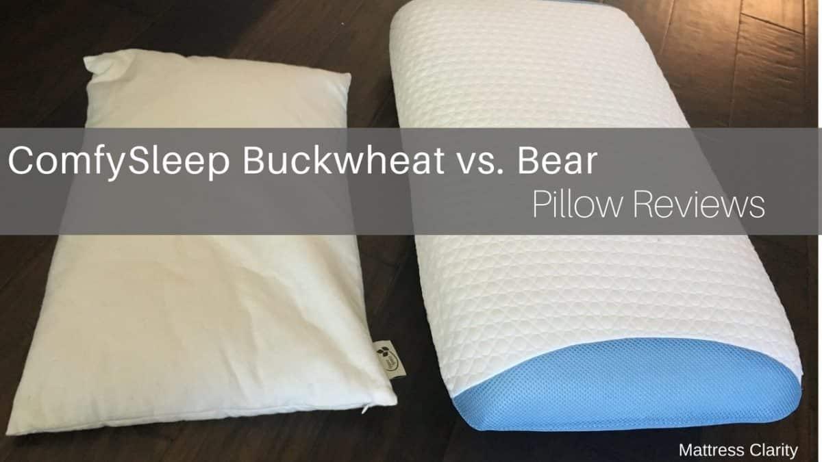 pillow reviews comfysleep buckwheat vs