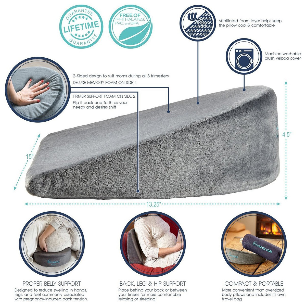hiccapop pregnancy pillow review