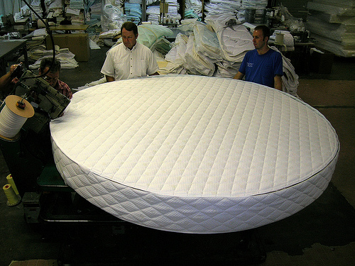 Custom Mattress Shape Round Bed