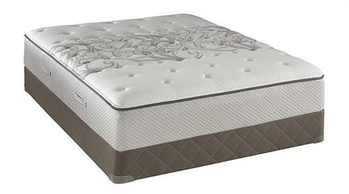 queen sealy posturepedic tight top plush mattress set