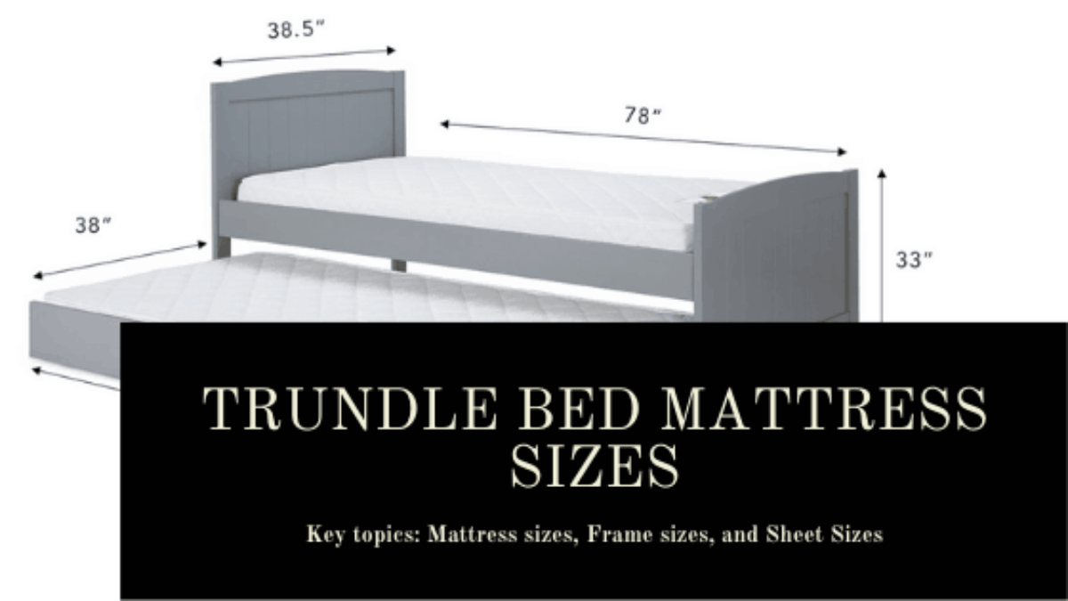 trundle bed mattress sizes frame sizes