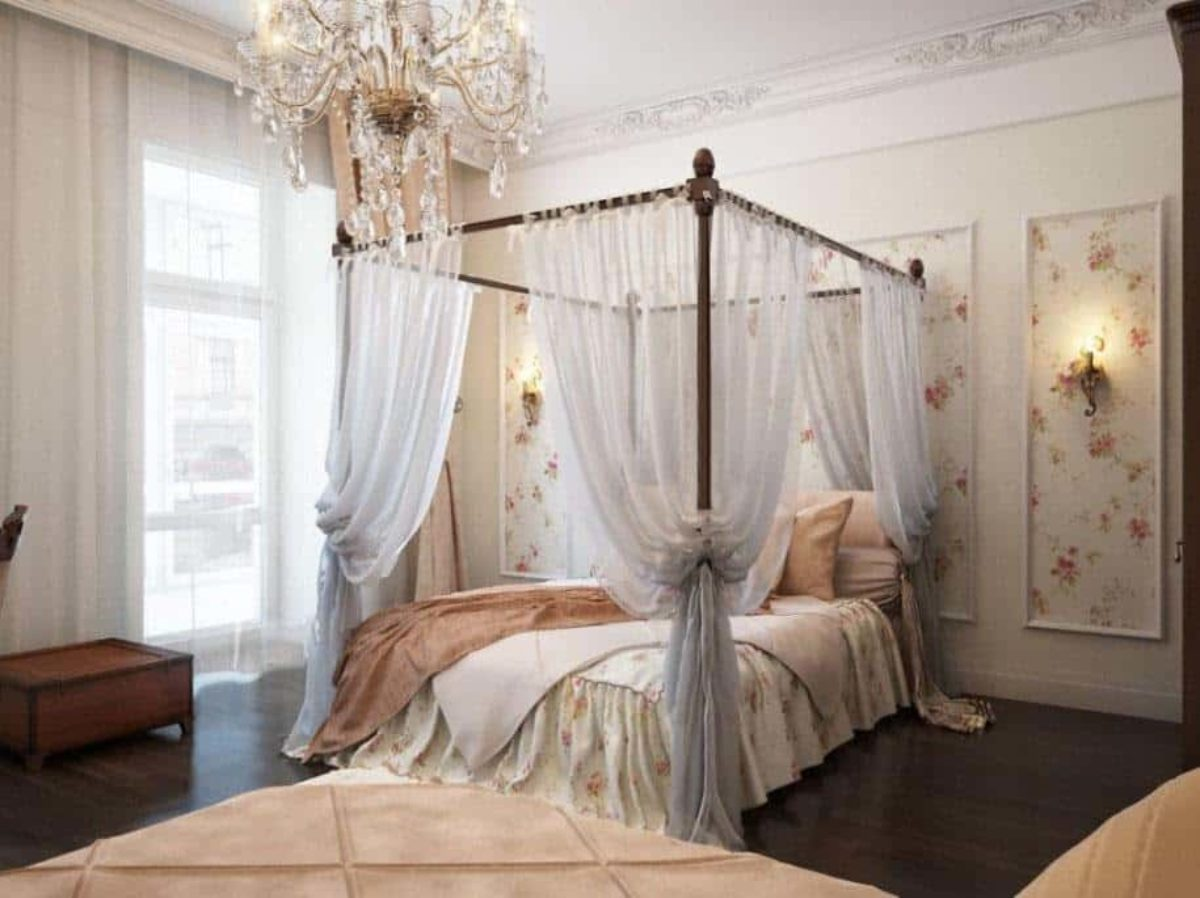 how to drape canopy beds step by step
