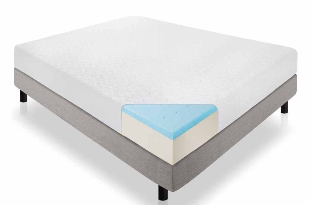 lucid 10-inch gel memory foam dual-layered mattress review