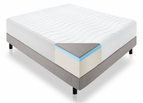 Lucid 14-Inch Plush Memory Foam Mattress