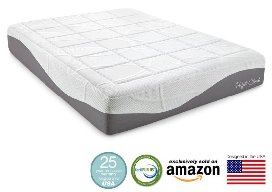 Perfect Cloud Elegance Gel-Pro 12 Inch Memory Foam Mattress